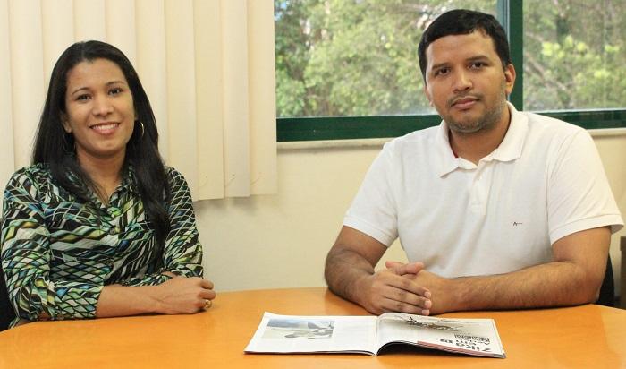 Valdinete Nascimento e Felipe Naveca. Foto: Eduardo Gomes